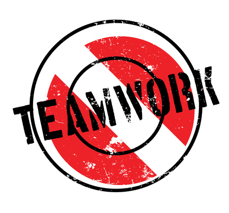 Teamwork rubber stamp. Grunge design with dust scratches. Effects can be easily removed for a clean, crisp look. Color is easily changed. Banque d'images - 95538835