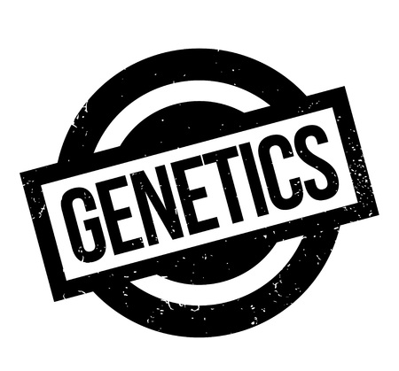 Genetics rubber stamp. Grunge design with dust scratches. Effects can be easily removed for a clean, crisp look. Color is easily changed. Stock Vector - 95571087
