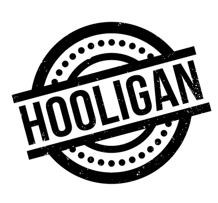 Hooligan rubber stamp. Illustration
