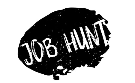 Job Hunt rubber stamp.