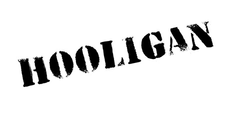 Hooligan rubber stamp. Grunge design with dust scratches. Effects can be easily removed for a clean, crisp look. Color is easily changed. Illustration
