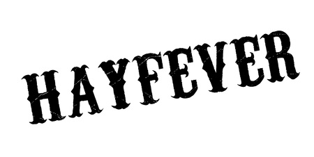 Hay fever rubber stamp. Grunge design with dust scratches. Illustration