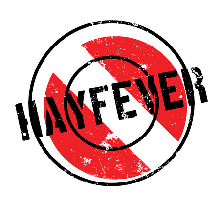 Hayfever rubber stamp. Grunge design with dust scratches. Effects can be easily removed for a clean, crisp look. Color is easily changed. Illustration