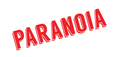 Paranoia rubber stamp. Effects can be easily removed for a clean, crisp look. Color is easily changed.