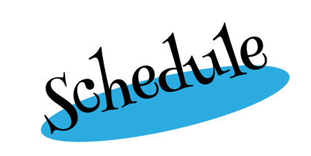 Schedule rubber stamp. Effects can be easily removed for a clean, crisp look. Color is easily changed.