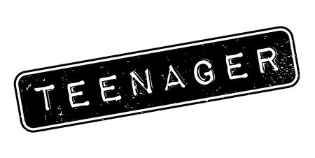 Teenager rubber stamp. Grunge design with dust scratches. Effects can be easily removed for a clean, crisp look. Color is easily changed.