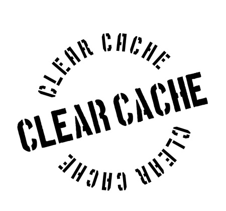 Clear Cache rubber stamp. Grunge design with dust scratches. Effects can be easily removed for a clean, crisp look. Color is easily changed.