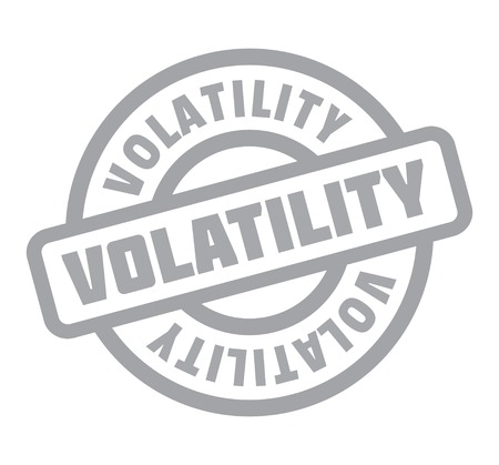 Volatility rubber stamp. Grunge design with dust scratches. Effects can be easily removed for a clean, crisp look. Color is easily changed. Reklamní fotografie - 95550844