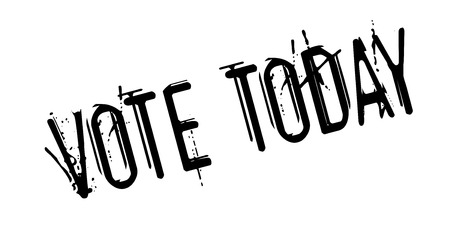 Vote Today rubber stamp. Grunge design with dust scratches. Effects can be easily removed for a clean, crisp look. Color is easily changed.