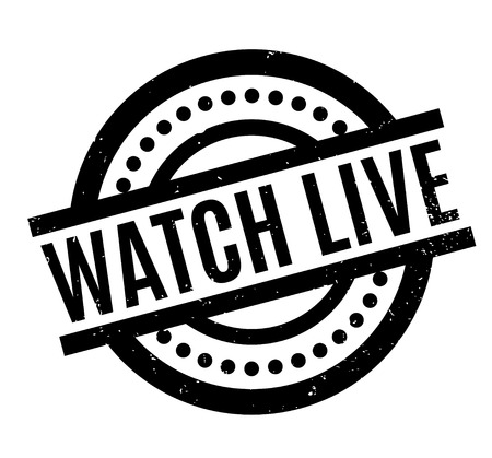 Watch Live rubber stamp. Grunge design with dust scratches. Effects can be easily removed for a clean, crisp look. Color is easily changed.