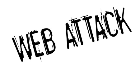 Web Attack rubber stamp. Grunge design with dust scratches.  Vector illustration.