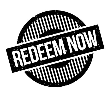 Redeem Now rubber stamp. Grunge design with dust scratches. Effects can be easily removed for a clean, crisp look. Color is easily changed.