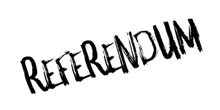 Referendum rubber stamp. Grunge design with dust scratches. Effects can be easily removed for a clean, crisp look. Color is easily changed.