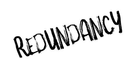 Redundancy rubber stamp. Grunge design with dust scratches. Vector illustration. Ilustração