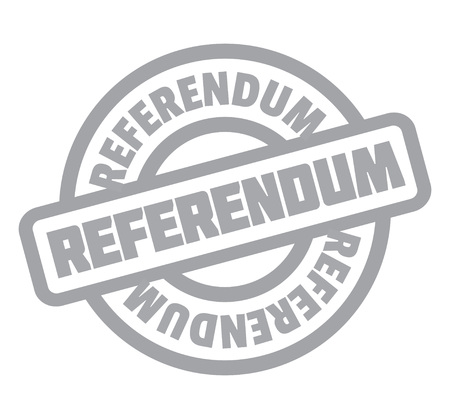 Referendum rubber stamp. Grunge design with dust scratches.