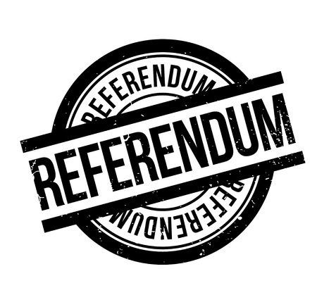 Referendum rubber stamp. Grunge design with dust scratches. Vector illustration.