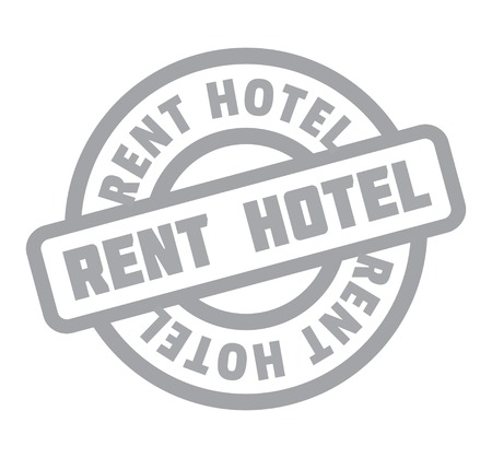 Rent Hotel rubber stamp. Grunge design with dust scratches. Effects can be easily removed for a clean, crisp look. Color is easily changed. Illusztráció