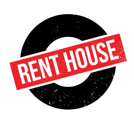 Rent House rubber stamp. Grunge design with dust scratches. Vector illustration.