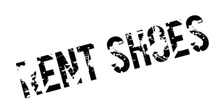 Rent Shoes rubber stamp. Grunge design with dust scratches. Illusztráció