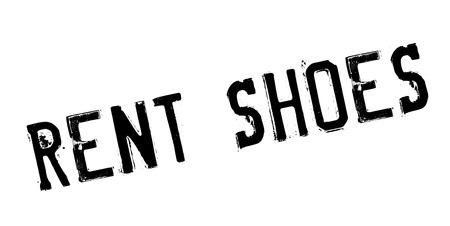 Rent Shoes rubber stamp. Grunge design with dust scratches. Illustration