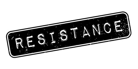 Resistance rubber stamp. Grunge design with dust scratches. Ilustrace