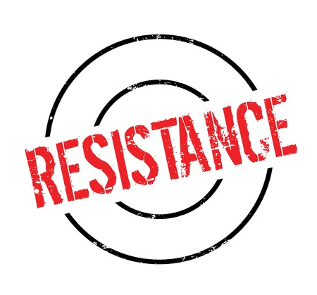 Resistance rubber stamp. Grunge design with dust scratches. Vector illustration.
