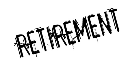 Retirement rubber stamp. Grunge design with dust scratches. Vector illustration.
