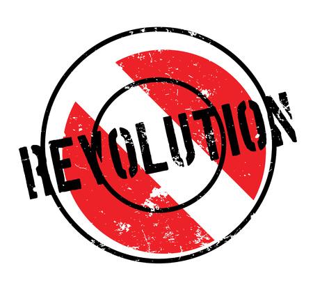 Revolution rubber stamp. Grunge design with dust scratches. Vector illustration.