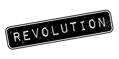 Revolution rubber stamp. Grunge design with dust scratches. Vector illustration.