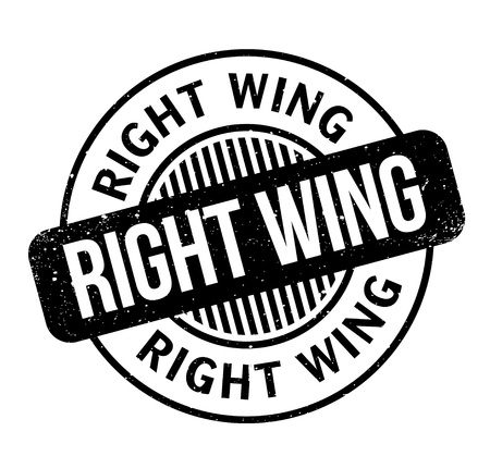 Right Wing rubber stamp. Grunge design with dust scratches. Effects can be easily removed for a clean, crisp look. Color is easily changed. Stock Vector - 95561138