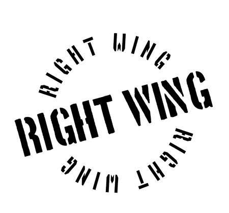 Right Wing rubber stamp. Grunge design with dust scratches. Vector illustration. Illustration