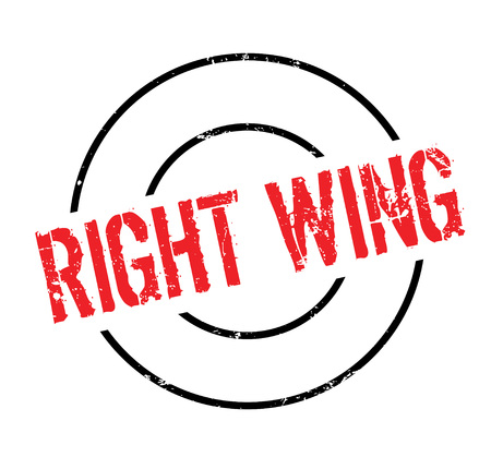 Right Wing rubber stamp. Grunge design with dust scratches. Vector illustration. Vectores