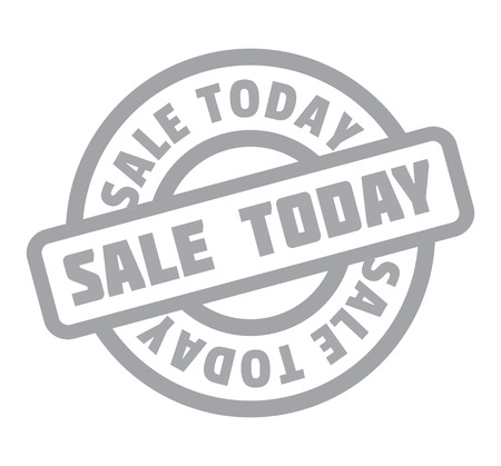 Sale Today rubber stamp. Grunge design with dust scratches. Vector illustration. Illustration