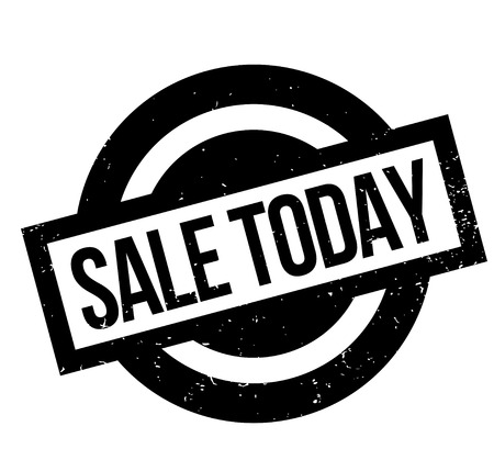 Sale Today rubber stamp. Grunge design with dust scratches. Effects can be easily removed for a clean, crisp look. Color is easily changed.