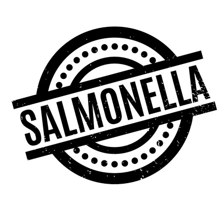 Salmonella rubber stamp. Grunge design with dust scratches.