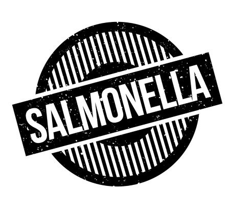 Salmonella rubber stamp. Grunge design with dust scratches. Vector illustration.
