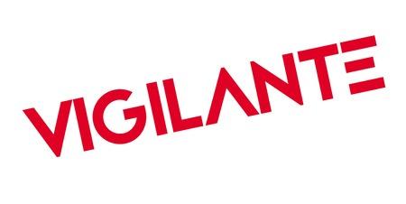 Vigilante rubber stamp. Grunge design with dust scratches.  イラスト・ベクター素材