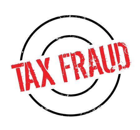 Tax Fraud rubber stamp. Grunge design with dust scratches. Ilustração