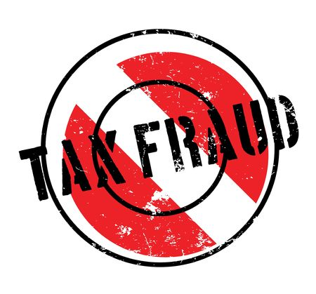 Tax Fraud rubber stamp. Grunge design with dust scratches. Illustration