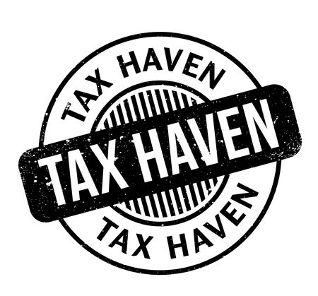 Tax Haven rubber stamp. Grunge design with dust scratches. Effects can be easily removed for a clean, crisp look. Color is easily changed. Vettoriali