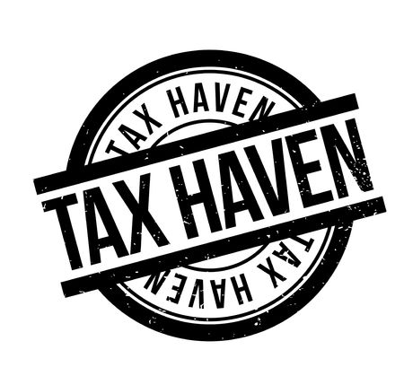 Tax Haven rubber stamp. Grunge design with dust scratches.  イラスト・ベクター素材