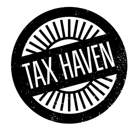 Tax Haven rubber stamp. Grunge design with dust scratches. Effects can be easily removed for a clean, crisp look. Color is easily changed. Stock Illustratie