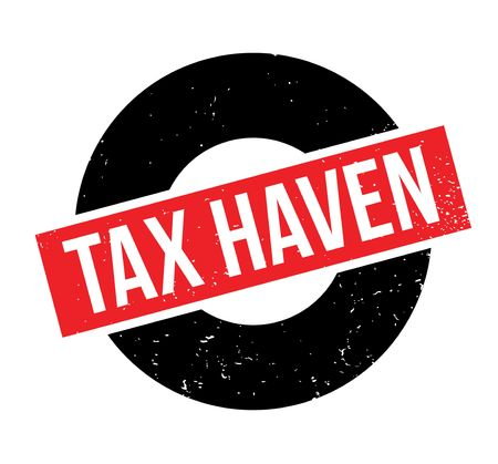 Tax Haven rubber stamp. Grunge design with dust scratches. Vettoriali