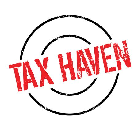 Tax Haven rubber stamp. Grunge design with dust scratches. Illustration