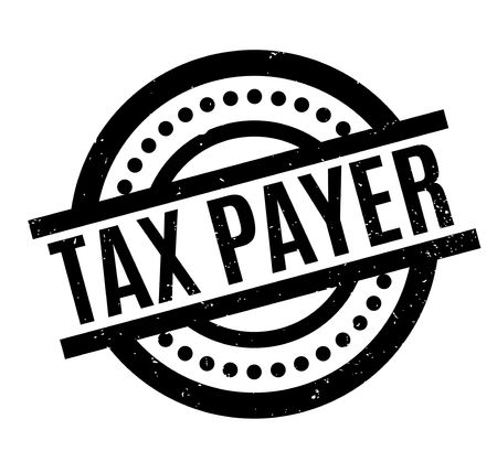 Tax Payer rubber stamp. Grunge design with dust scratches. Effects can be easily removed for a clean, crisp look. Color is easily changed.