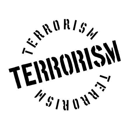Terrorism rubber stamp. Grunge design with dust scratches. Illusztráció