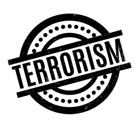 Terrorism rubber stamp. Grunge design with dust scratches. Illustration