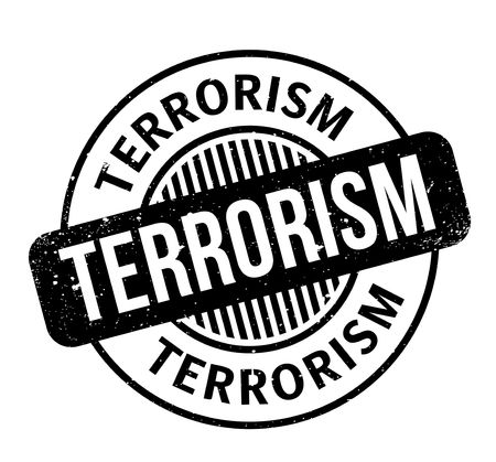 Terrorism rubber stamp. Grunge design with dust scratches. Effects can be easily removed for a clean, crisp look. Color is easily changed. Reklamní fotografie - 95660448