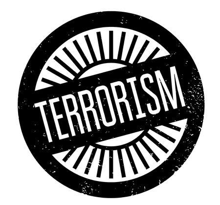 Terrorism rubber stamp. Grunge design with dust scratches. Illustration