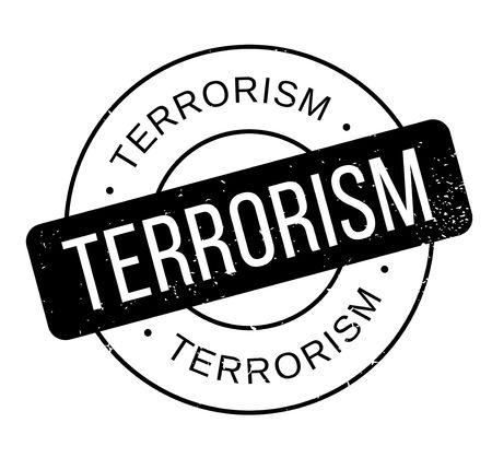 Terrorism rubber stamp. Grunge design with dust scratches. Vettoriali